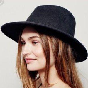 Free People Clean Slate Black Felt Hat